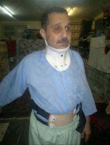علی سلان پور پس از بازگشت از بیمارستان