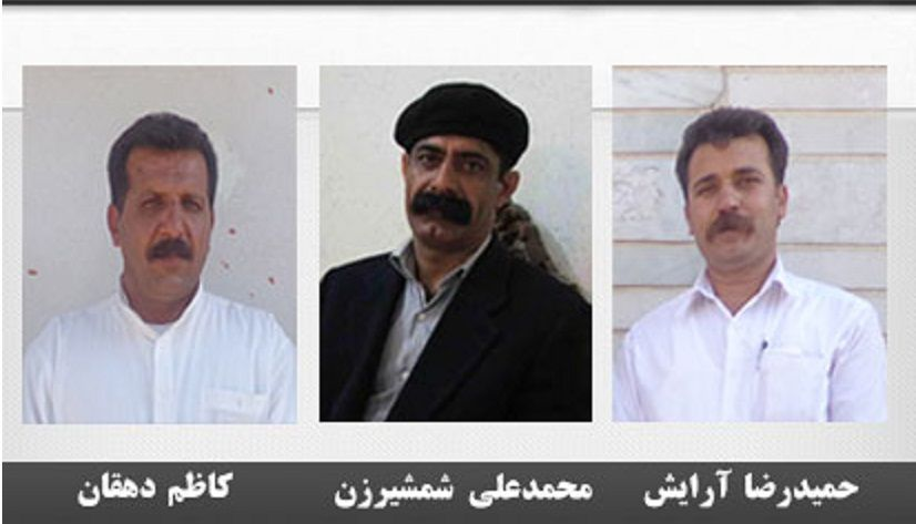 Afbeeldingsresultaat voor محمدعلی شمشیرزن، کاظم دهقان و حمید آرایش