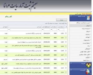 تصویر داخلی از محیط کار بانک آمار مجموعه فعالان حقوق بشر در ایران