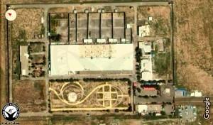 نقشه هوایی ندامتگاه شهرری