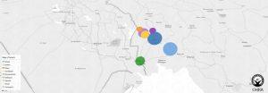 نقشه پراکندگی بازداشت شدگان به تفکیک شهر